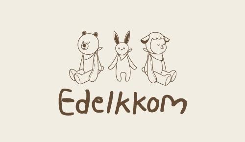 오가닉 애착 인형 'Edelkkom' 디자인
